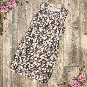 Ann Taylor Loft midi sleeveless fitted dress